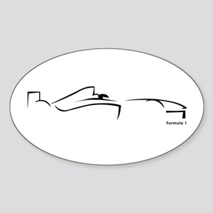 Formula 1 Black Oval Sticker